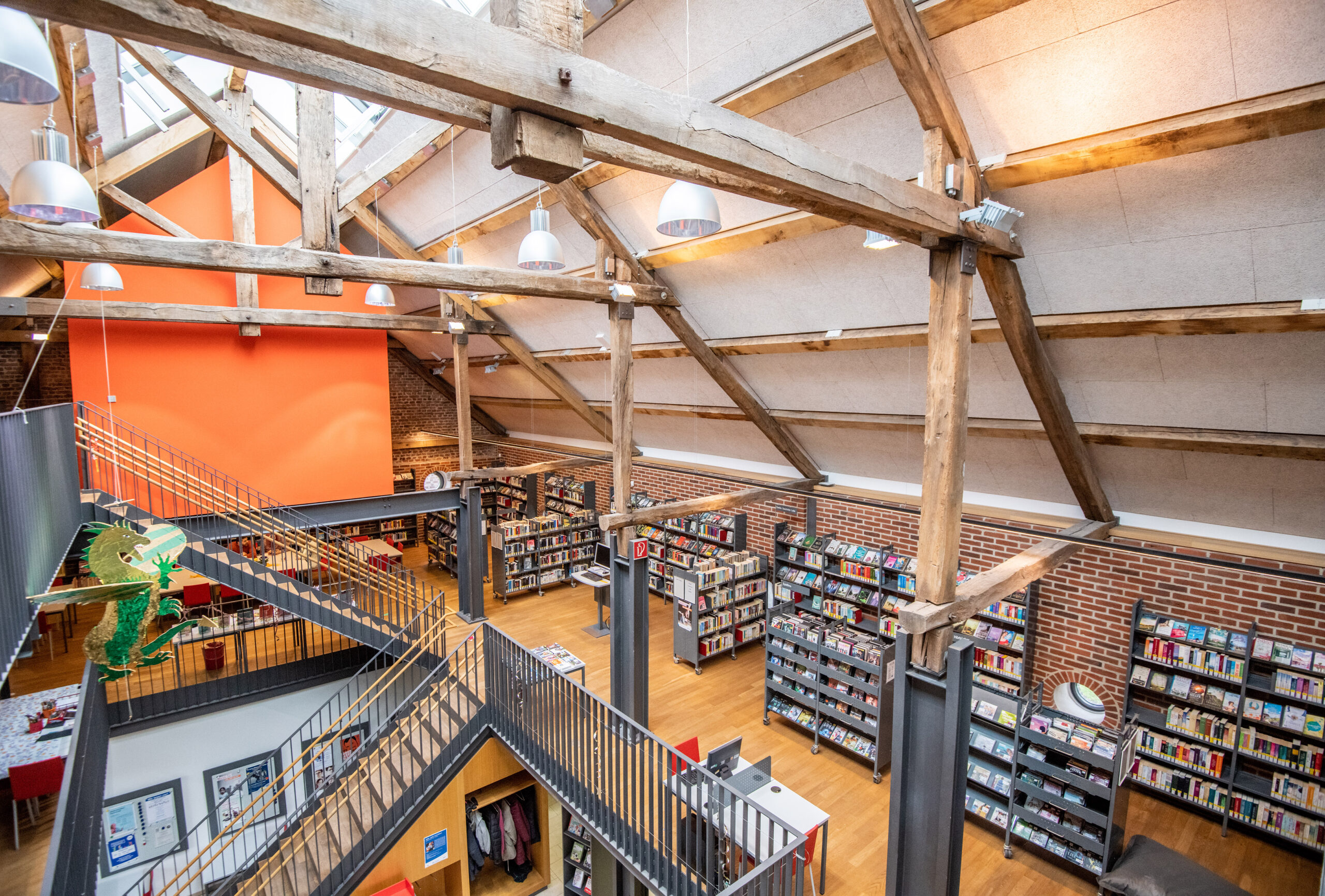 Die Stadtteilbibliothek Horst aufgenommen am 20.02.2020 in Gelsenkirchen. Foto: Stadt Gelsenkirchen/ Caroline Seidel